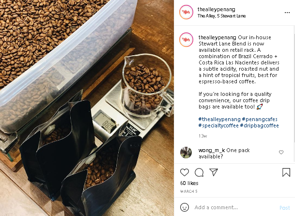 coffee beans cafes in Penang