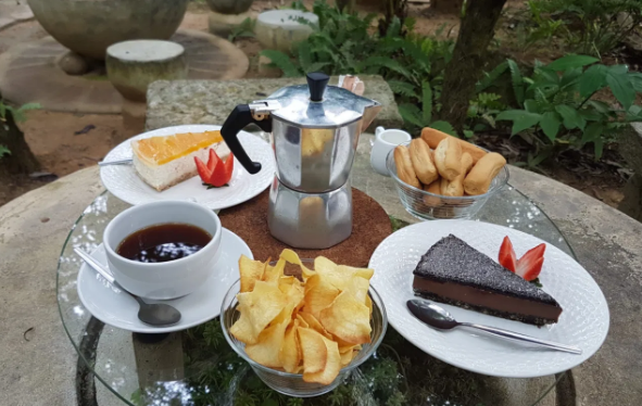 a variety of cakes and sweets from cafes in Penang