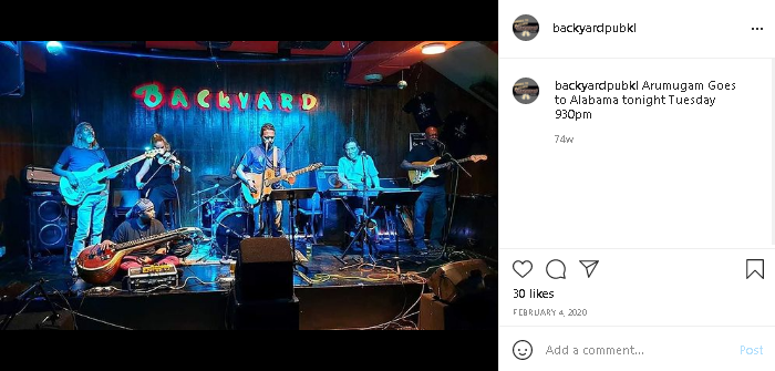 live music in KL with the Backyard artists