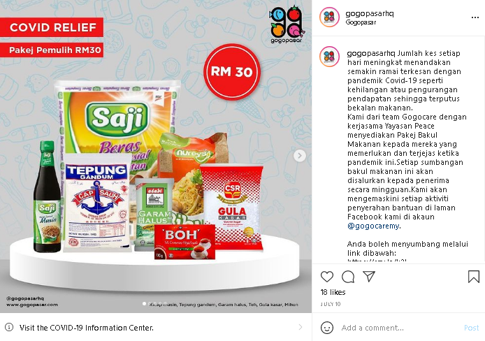 Malaysia online grocery safe shopping at Gogopasar