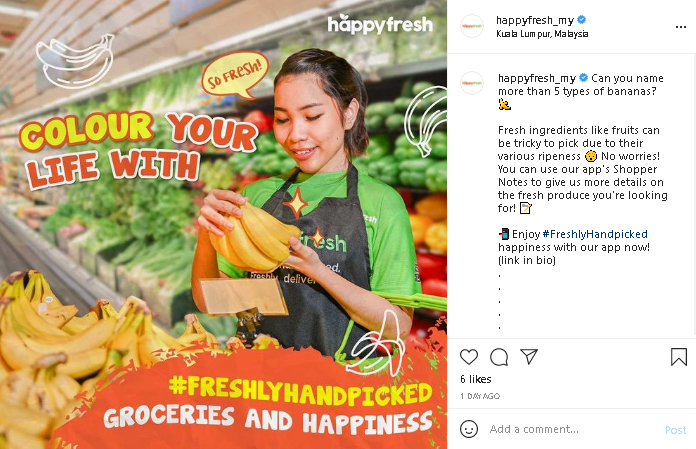 Malaysia online grocery at HappyFresh Malaysia
