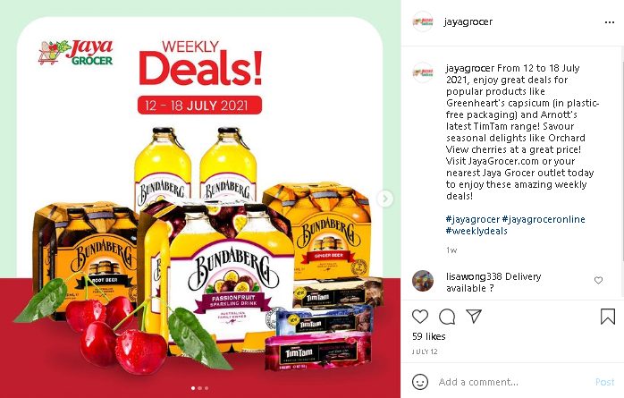 Malaysia online grocery at Jaya Grocer