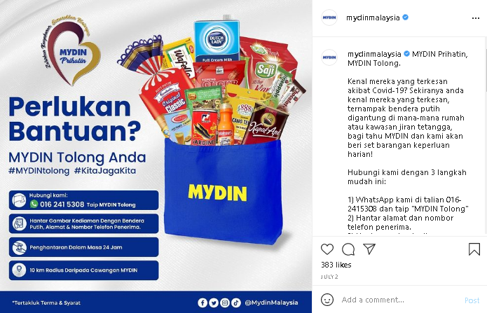 Malaysia online grocery at Mydin Online