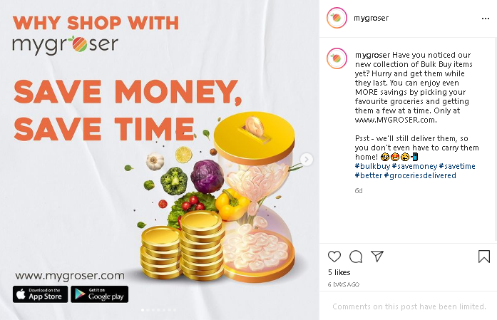 save money and time at Mygrosser